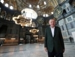 Erdogan Visits Hagia Sophia in Istanbul, Shares Photos Ahead of 1st Muslim Prayers