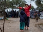 New fires at Greek island refugee camp destroy last remaining shelters