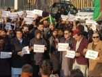 Protest in Kabul against detention of PTM leader Manzoor Pashtun offsets Pakistan's anti-India event