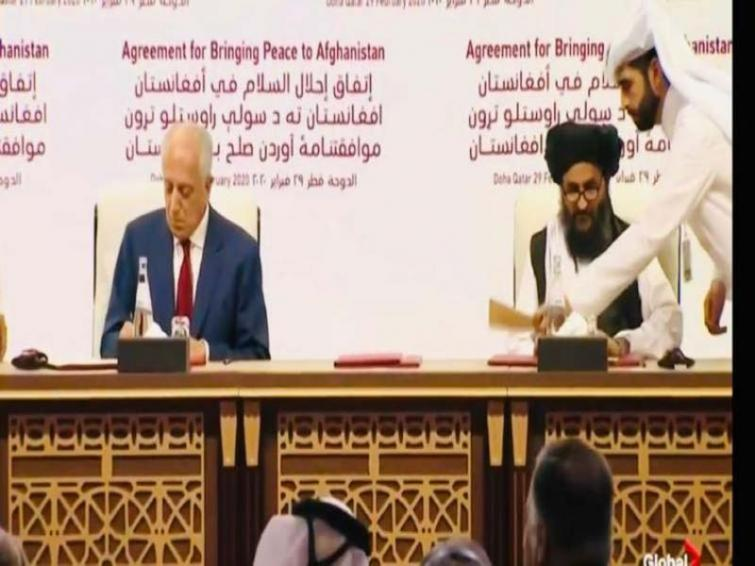Signing of the agreement US-Taliban agreement in Feb this year.