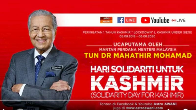 Twitter users slam Mahathir Mohamad over Kashmir remark