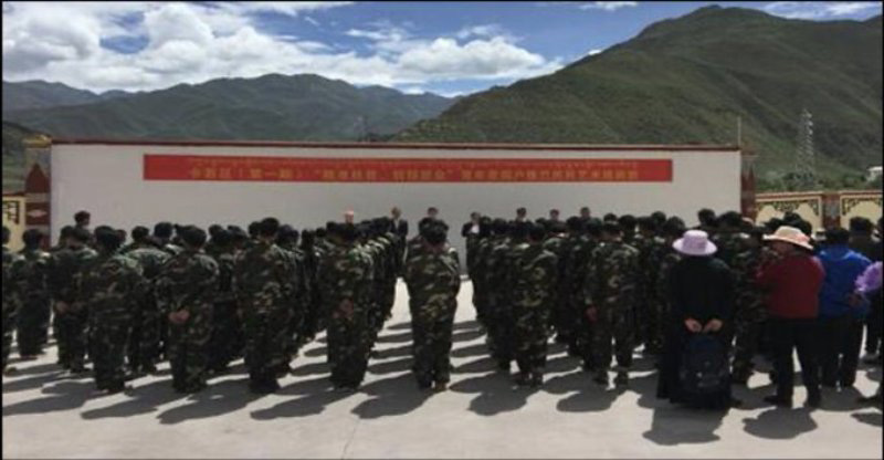 China's militarized vocational training which is practised in Xinjiang now reaches Tibet: US think-tank