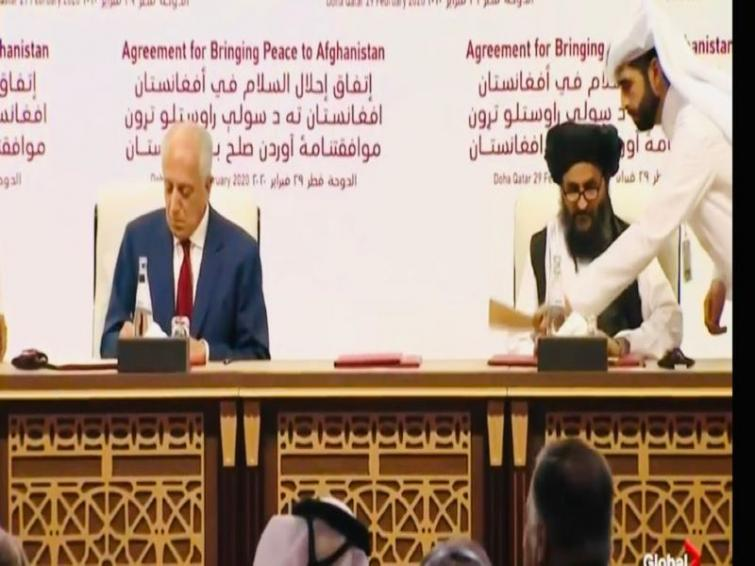 Historic peace treaty signed between Taliban and US ends nearly 19 years of conflict in Afghanistan