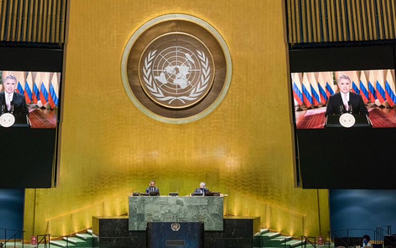Pandemic has exposed need for better cooperation mechanisms in crisis situations, Colombian President tells UN