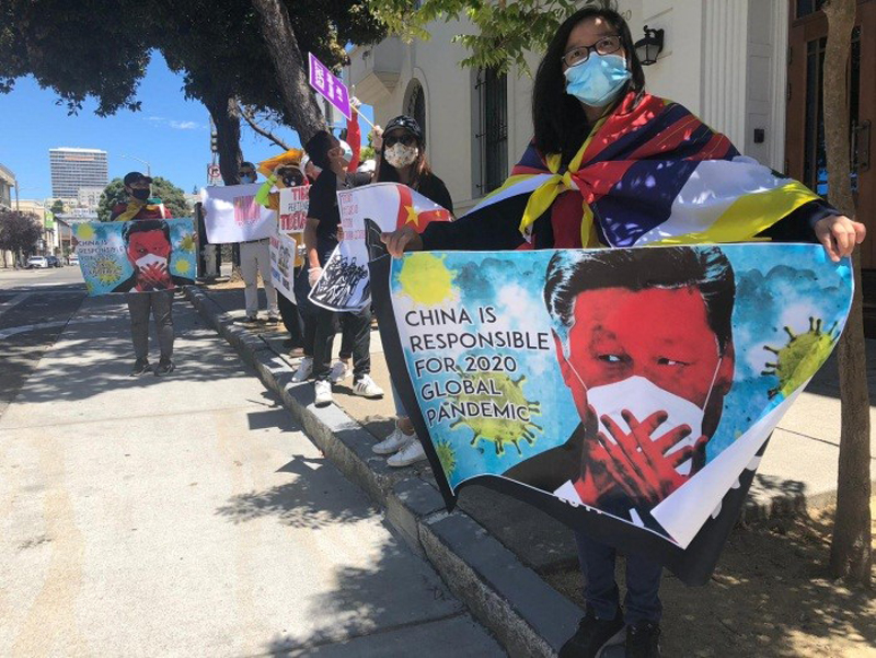 After New York, Tibetans protest outside Chinese consulate in San Francisco