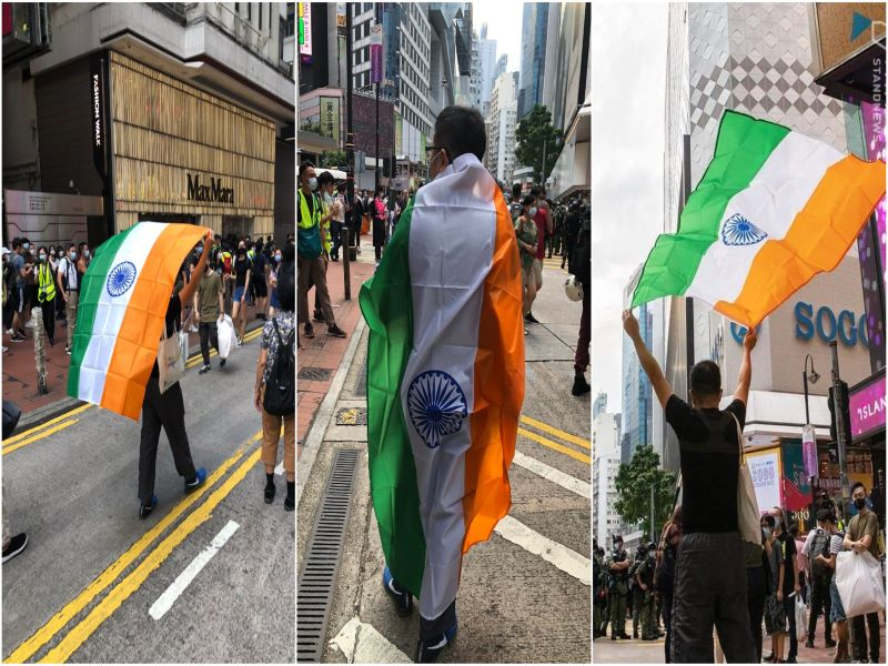 'Because India Is Fighting China. So India Is My friend!': Hong Kong pro-democracy protester who wrapped himself in Tricolour
