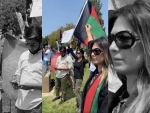 Thousands of Afghanistanis demonstrate against Taliban in California