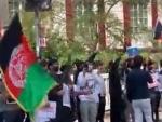 Belgium: Afghanistan diaspora members demonstrate against Taliban, Pakistan