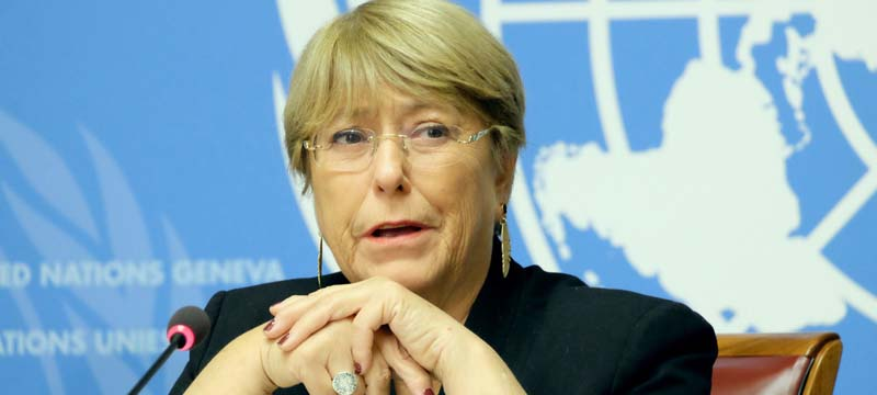 Pandemic pushing people 'even further behind', UN rights chief warns