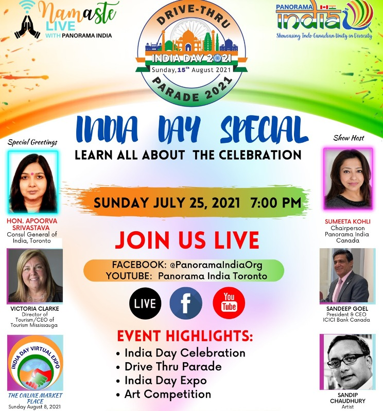 Panorama India to kick off India Day celebrations with 'Namaste Live' on Facebook page, YouTube channel