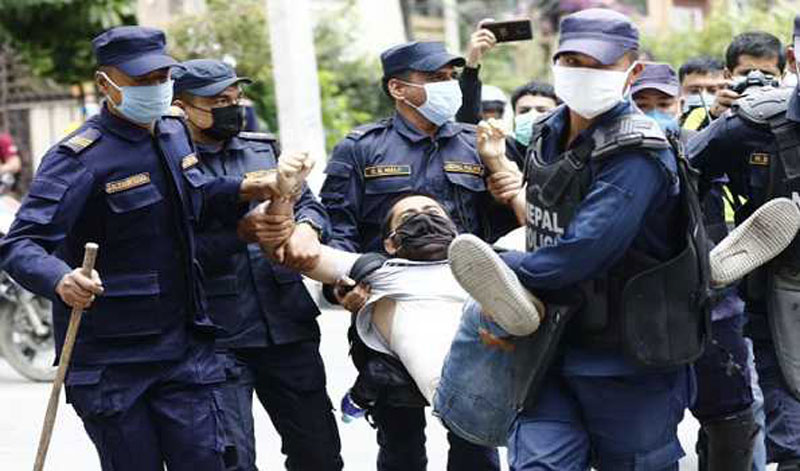 Nepal cracks down on protesters denouncing dissolution of Lower House