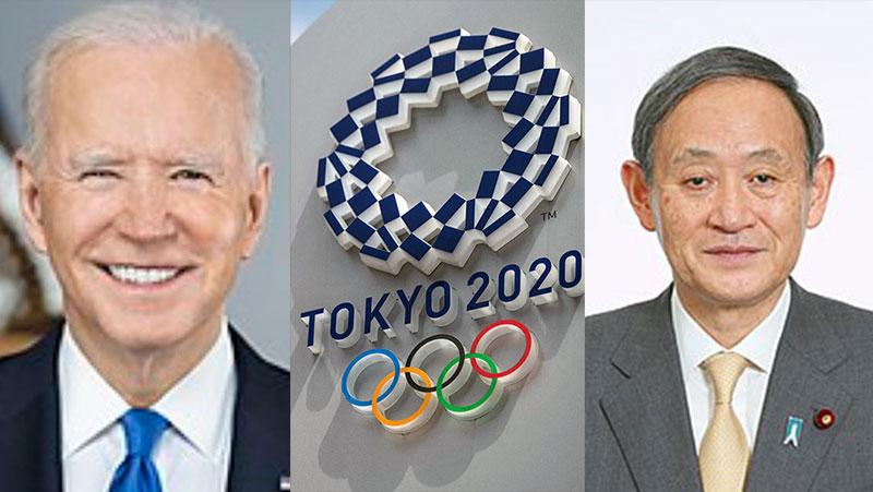 Biden thanks Japanese Prime Minister Yoshihide Suga for hosting Summer Olympics