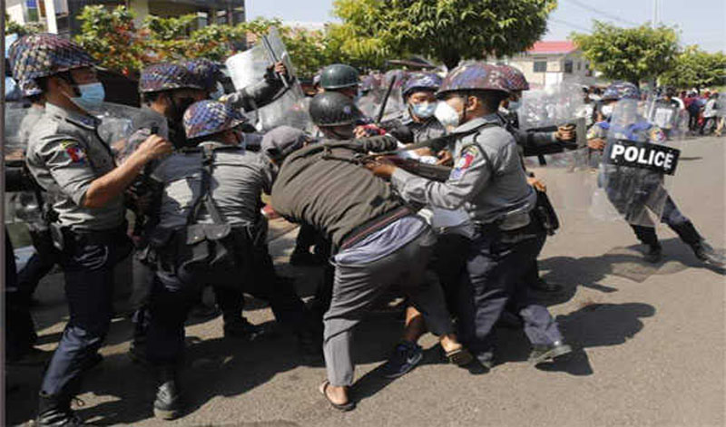 Police resort to firearms to disperse anti-coup student protest in Myanmar: Reports