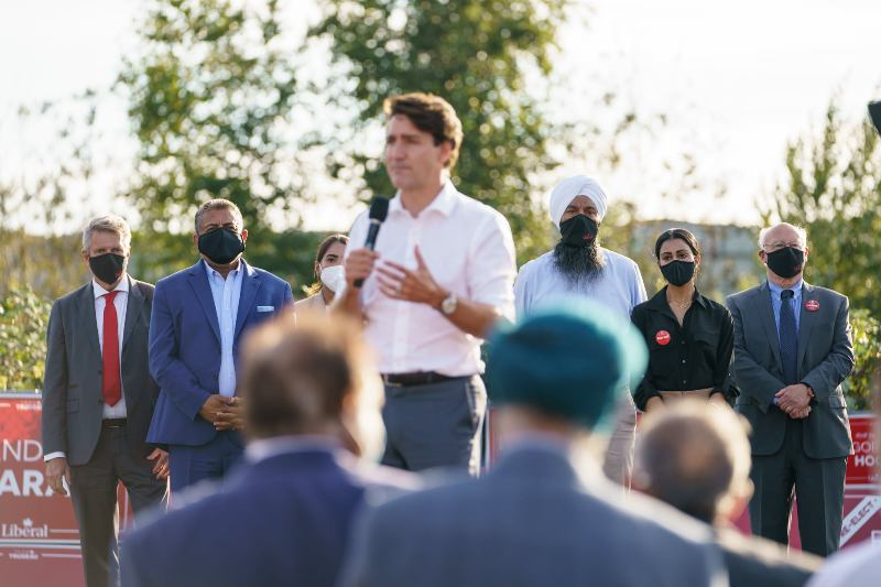 Prime Minister Justin Trudeau campaigning ahead of the upcoming polls. Photo: facebook.com/JustinPJTrudeau