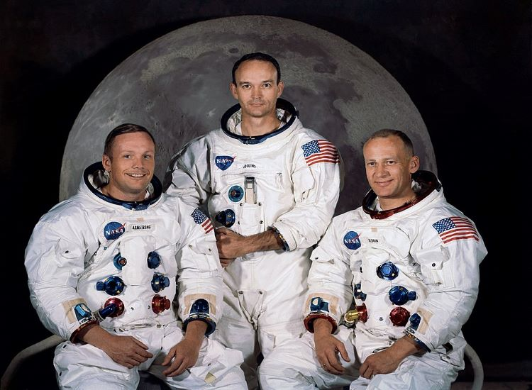 The crew of Apollo 11: from left to right, Neil Armstrong, Michael Collins and Buzz Aldrin.