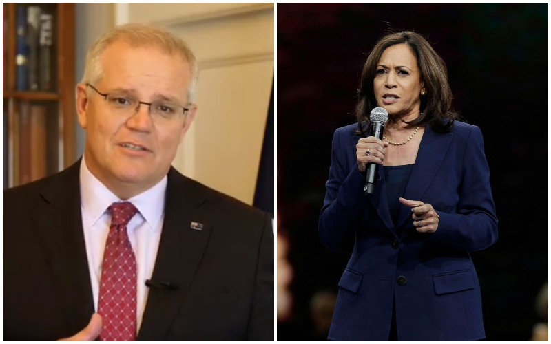 US VP Kamala Harris speaks with Australia PM Scott Morrison, discusses 'China' among other issues